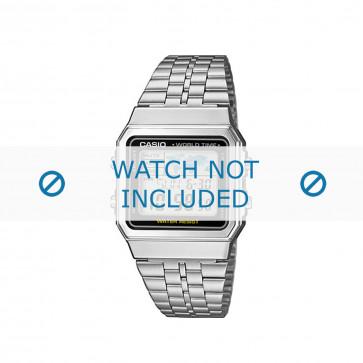 Pulseira de relógio Casio A500WEA-1EF / A500WEA-1 / 10484919 Aço 18mm