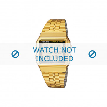 Casio pulseira de relógio A500WEGA-1EF / A500WEGA-1 Aço Dourado 18mm
