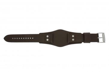 Fossil pulseira de relógio CH-2890 / CH-2891 Couro Castanho 22mm