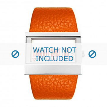 Pulseira de relógio Dolce & Gabbana 3719240404 Couro Laranja 35mm