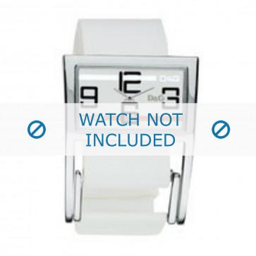 Pulseira de relógio Dolce & Gabbana 3719251192 Couro Branco 18mm