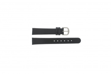 Danish Design pulseira de relógio ADDBL15 Couro Preto 15mm