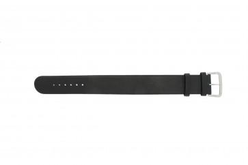 Pulseira de relógio Danish Design IV13Q676 / IV12Q676 Couro Preto 24mm