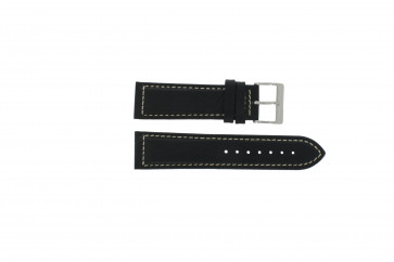 Davis pulseira de relógio BB0450 / BB0454 Couro Preto 24mm