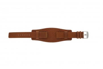 Pulseira de relógio WoW B0222 Couro Conhaque 18mm