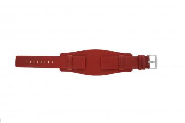 Davis pulseira de relógio B0223 Couro Vermelho 20mm