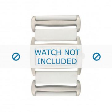 Pulseira de relógio Davis BB0755 Couro Branco 36mm
