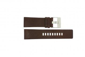Diesel pulseira de relogio DZ1118 Couro Marrom 26mm