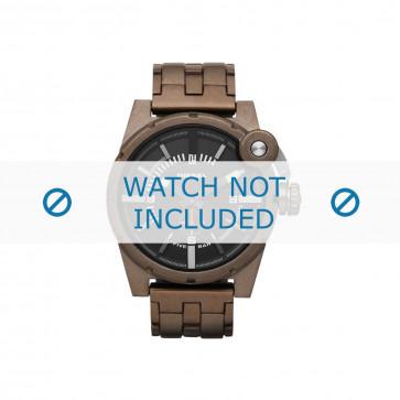 Diesel pulseira de relogio DZ4236 Aço inoxidável Marrom 24mm