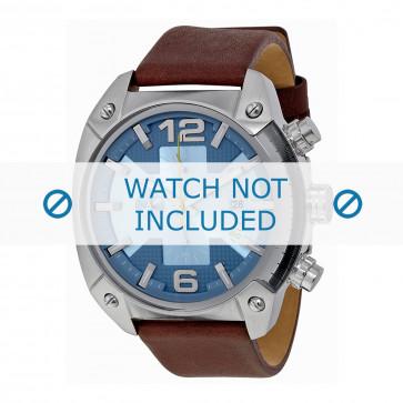 Pulseira de relógio Diesel DZ4340 Couro Marrom 24mm