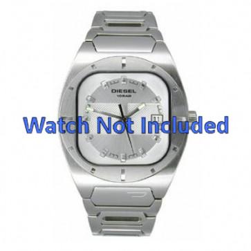 Diesel pulseira de relogio DZ4116 Metal Branco 19mm