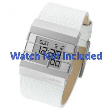 Pulseira de relógio Diesel DZ7087 Couro Branco 36mm