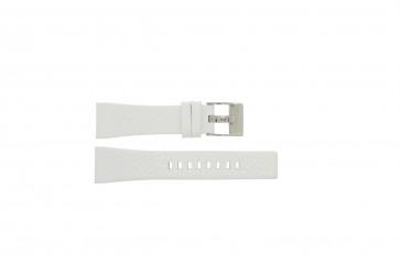 Pulseira de relógio Diesel DZ5102 Couro Branco 23mm