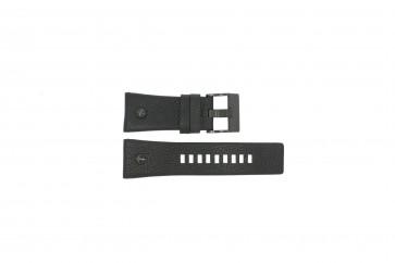 Diesel pulseira de relogio DZ7127 Couro Preto 29mm