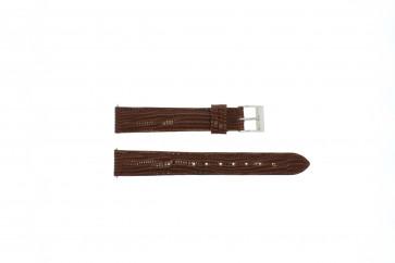 Bracelete em pele genuína crocodilo castanho 16mm EX-G62
