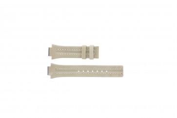 Festina pulseira de relógio F16186/4 Couro Castanho 14mm + costura branca