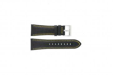 Festina pulseira de relógio F16235/7 Couro Preto 28mm + costura amarela