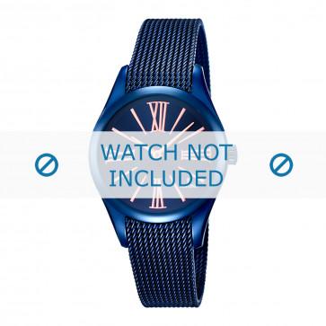 Festina pulseira de relogio F16963-1 Metal Azul 16mm