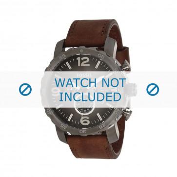 Fossil pulseira de relógio JR-1424 Couro Castanho 24mm