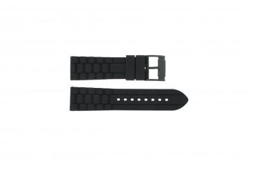 Pulseira de relógio Fossil FS4487 / FS4628 / FS4605 / JR1425 Silicone Preto 24mm