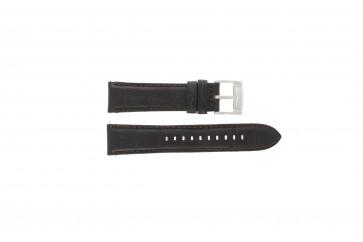 Fossil pulseira de relogio FS4672 Couro Preto 22mm + costura padrão