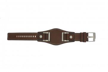 Fossil pulseira de relogio JR1157 Couro Marrom 24mm + costura padrão