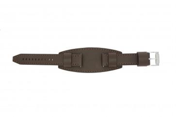 Fossil pulseira de relógio JR1395 Couro Castanho 20mm