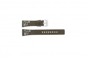 Fossil pulseira de relógio JR-9519 Couro Castanho 20mm