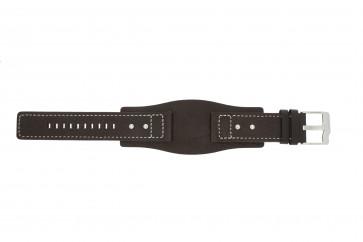 Fossil pulseira de relógio JR9990 Couro Castanho 24mm