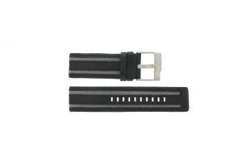 Fossil pulseira de relógio JR-9934 Couro Preto 26mm