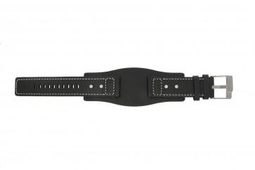 Fossil pulseira de relógio JR9991 / AM3696 Couro Preto 24mm