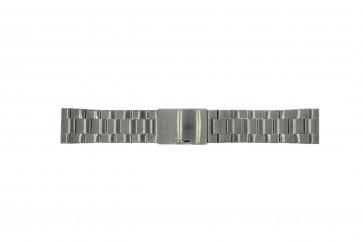 Pulseira de relógio Fossil FS4662 / 12XXXX / 25XXXX Aço Cinza antracite 24mm