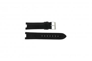 Guess pulseira de relógio W11607L2 Couro Preto 19mm
