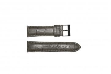Pulseira de relógio Guess W12089G2 / W0079G1 Couro Cinza 22mm