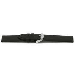 pulseira de couro genuíno preto 16mm EX-E129
