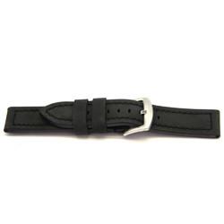 Bracelete em pele genuína em preto 22mm H103