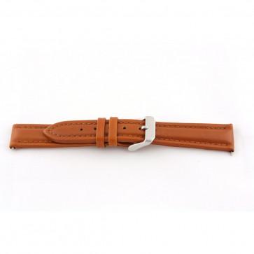 Bracelete em pele genuína em castanho conhaque 22mm G51
