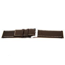 Bracelete em pele genuína castanha 32 mm EX-J43
