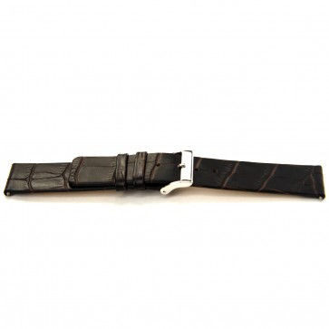 Bracelete em pele de búfalo castanho escuro 24mm J-53