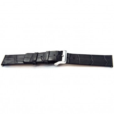 Pulseira de relógio Universal I810 Couro Cinza 24mm