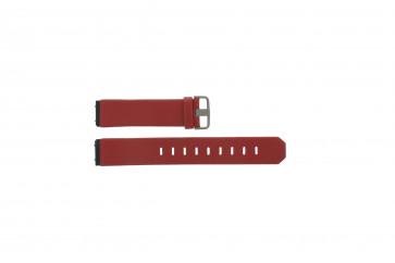Bracelete Jacob Jensen em pele genuína em vermelho 800 serie 17mm