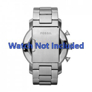 Fossil pulseira de relogio JR1353 Metal Prata 24mm