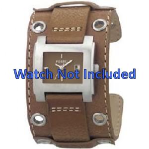 Fossil pulseira de relogio JR8149 Couro Marrom 18mm + costura padrão