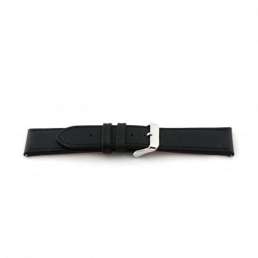 Pulseira de couro extra de 24mm de comprimento preto EX-K63487