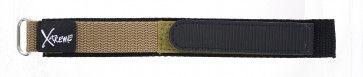 Bracelete em velcro em castanho claro 20 mm