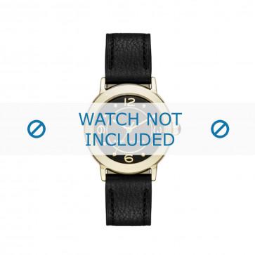 Marc by Marc Jacobs pulseira de relogio MJ1475 Couro Preto 14mm + costura preto