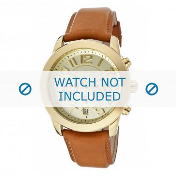 Pulseira de relógio Michael Kors MK2251 Couro Conhaque 22mm