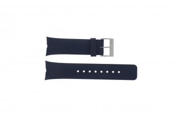 Nautica pulseira de relógio A23002G Borracha Azul 28mm