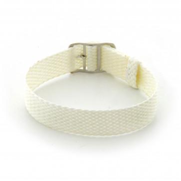Bracelete Perlon em branco 16mm