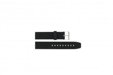 Pulseira de relógio PU.102 Plástico Preto 20mm